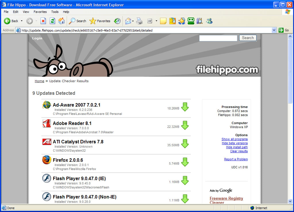 Pc hell how to keep your computer up to date file hippo update checker screenshot stopboris