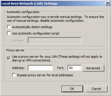 Proxy Lan Settings
