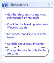 Change the Way Security Center Alerts Me