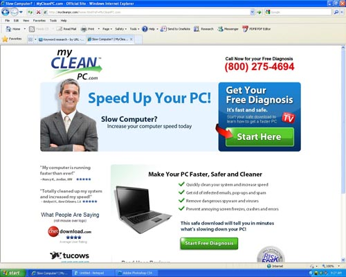 My Pc Cleaner : Pc hell review of mycleanpc